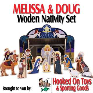 Melissa & Doug Wooden Nativity Set with 11 Figures