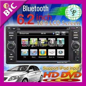 Universal 6.2 LCD Screen Double Din Car DVD Player Bluetooth with