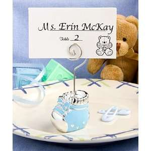 Blue baby bootie place card holders Health & Personal