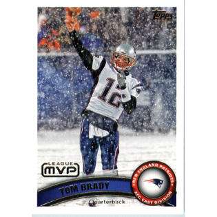 2011 Topps Football Card # 240 Tom Brady MVP   New England Patriots