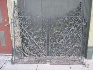 Vintage High Quality Hand Wrought Iron Gates