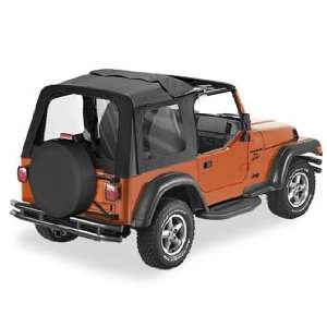 Soft Top BLACK DIAMOND For 2003 06 Jeep Wrangler  Doors Not included