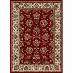 Vesuvio Collection Traditional Red Area Rug 5.50 x 7.70