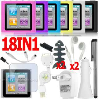 LCD SCREEN PROTECTOR COVER FOR APPLE IPOD NANO 6 6TH GEN 6G G