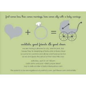 Love + Marriage Wasabi Baby Shower Invitations