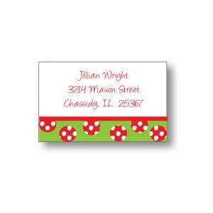 Polka Dot Pear Design   Rectangle Stickers (315rts