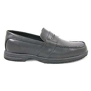 Mens Slip Resistant Penny Loafer Casual Shoes #9530 Black  Genuine