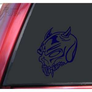 Demon Skull #1 Vinyl Decal Sticker   Dark Blue