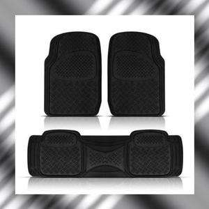 3PC GMC TERRAIN HEAVY DUTY SEMI CUSTOM BLACK RUBBER FLOOR MATS SET MT