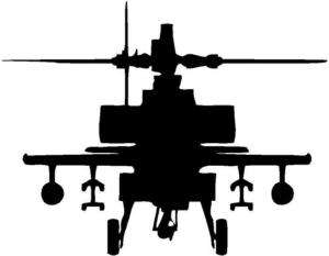 Apache Helicopter vinyl window car decal sticker
