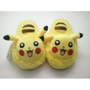 Pokemon Pikachu 10 Kids Anime Cosplay Soft Plush Slippers