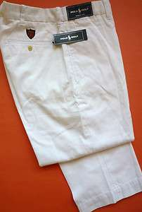 NWT POLO GOLF RALPH LAUREN MEN 100% COTTON WHITE BARROW PANTS