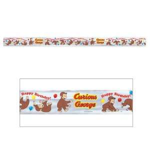 Curious George Happy Birthday Party Banner Supply Foil  Toys & Games