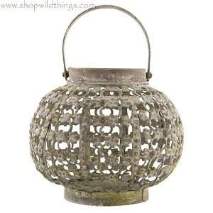 Globe Candle Lantern with Flowers 5
