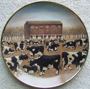 Folk Art SPRING PASTURE Franklin Mint Plate G 8608 Limited Edition