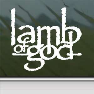 Lamb Of God White Sticker Band Car Laptop Vinyl Window