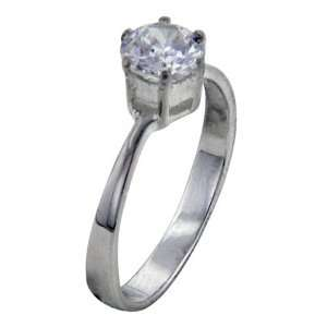 Cut Cubic Zirconia Sterling Silver Promise Ring Pugster Jewelry
