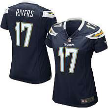 Womens Nike San Diego Chargers Philip Rivers Game Team Color Jersey