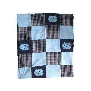 North Carolina UNC Tar Heels 50X60 Patch Quilt Throw/Blanket/Bedspread