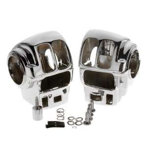 Ness Tech Chrome Switch Housings For 1996 2009 Harley Touring Models