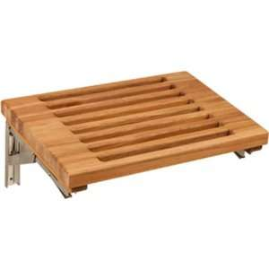 Wall Mount Fold Down Bench with Slats (Teak) (2H x 18W x