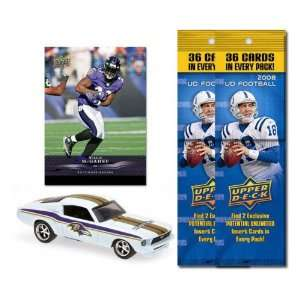 com Baltimore Ravens 1967 Ford Mustang Fastback Die Cast with Willis