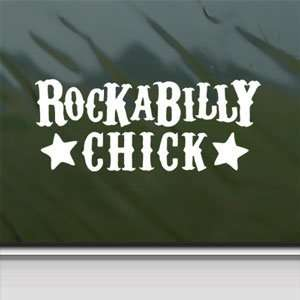 Rockabilly Chick White Sticker Car Vinyl Window Laptop