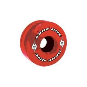 Surf One Red Tide 80a 65mm Clear Red Skateboard Wheels