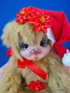 Neena, OOAK Christmas Edition Teddy Bear by Artist Chantal Bears