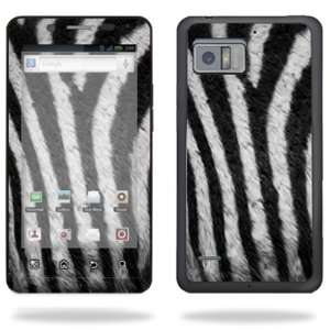 Skin Decal Cover for Motorola Droid Bionic 4G LTE Cell Phone   Zebra