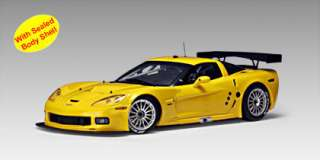 18 Chevrolet Corvette C6R Yellow Race Car Diecast LE