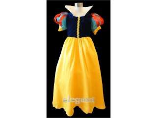 Disney Snow White Princess Costume Girl Gown Birthday Party Dress Size