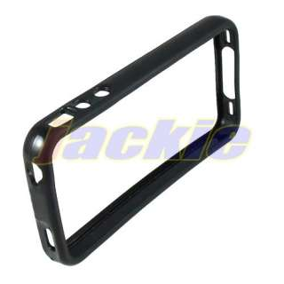 Black Hard Silicone TPU Rubber Bumper Frame Case For Apple iPhone 4G