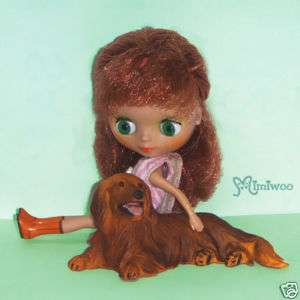 The Dog Figure Mini Petite Blythe 05   Dachshund Red