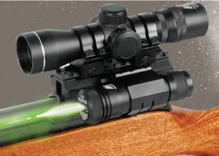 4x30mm Scope and Green Laser Sight Combo Kit with Tri Rail Mount