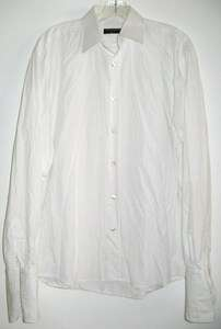 VINTAGE DOLCE & GABBANA MENS WHITE LONG SLEEVE SHIRT FRENCH CUFFS 16 1