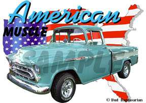 You are bidding on 1 1957 Green Chevy Cameo Pickup Truck Custom