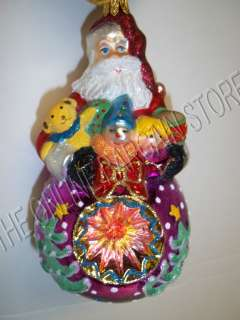 Kurt Adler Polonaise Christmas Ornament Santa OR Snowman Hand Blown