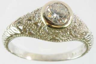 ANTIQUE LADIES 14K WHITE GOLD DIAMOND ESTATE RING 145147