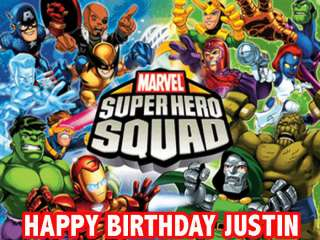 SUPER HERO SQUAD Edible CAKE Image Frosting Sheet