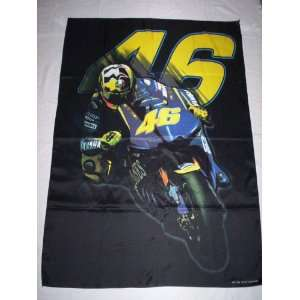 VALENTINO ROSSI 5x3 Feet Cloth Textile Fabric Poster