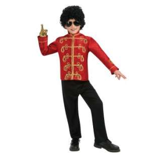 Michael Jackson Deluxe Red Military Child Jacket, 70491