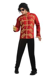 Michael Jackson Deluxe Red Military Jacket Adult Costume for Halloween