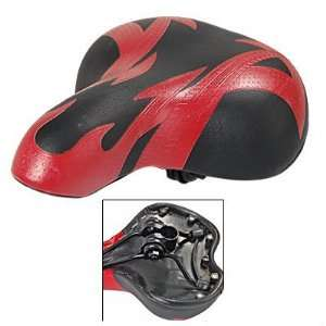 Red & Black Faux Leather Bike Racing Bicycle Saddle Seat
