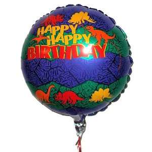 18 inch Happy Birthday w/Dinosaurs Mylar Balloon Toys & Games