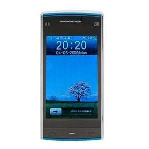 Dual Sim Standby WiFi Cell Phone with TV FM JAVA(Blue) Cell Phones