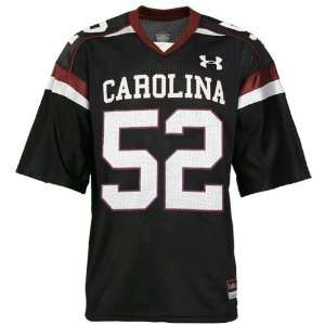 com Under Armour South Carolina Gamecocks #52 Black Replica Football