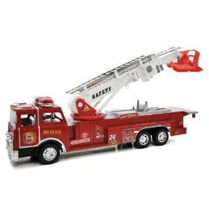 Service 001 Fire Engine Truck With Moving Ladder Toy Toys & Games
