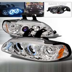 Civic 2/3/4Dr LED Projector Headlights   Chrome Blue Lens Automotive