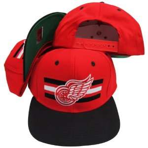 Detroit Red Wings Red/Black Two Tone Snapback Adjustable